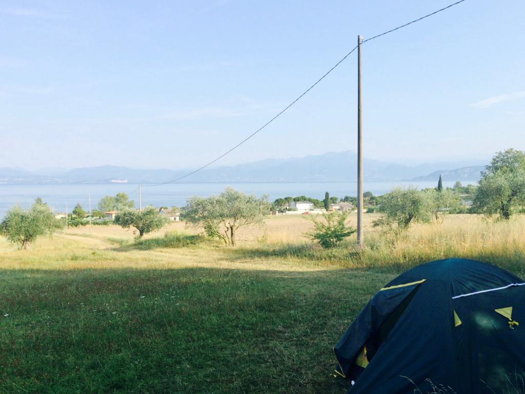 Утро на озере близ Вероны