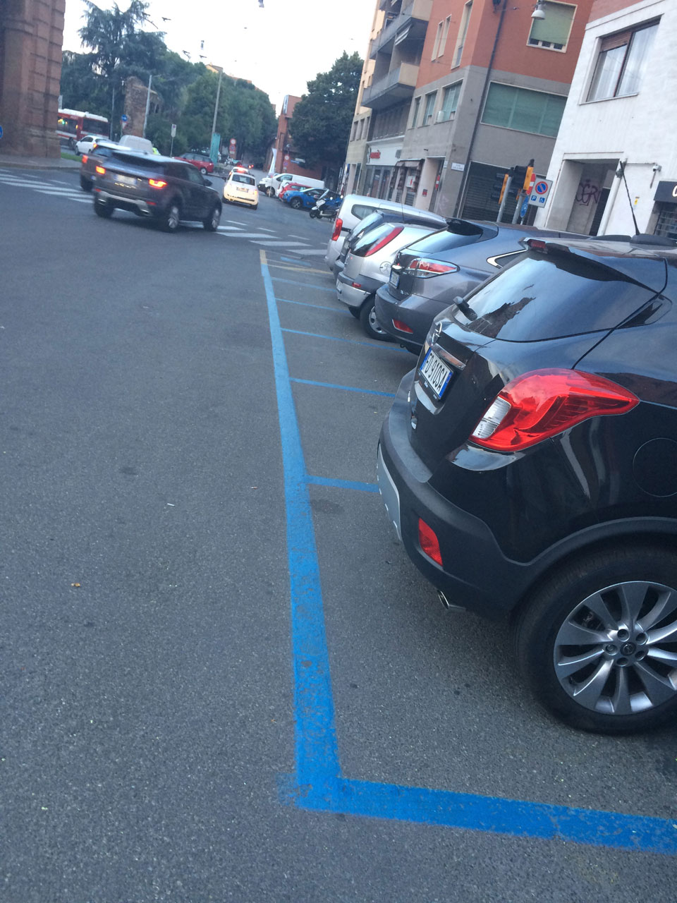 Синяя парковочная линия - платная