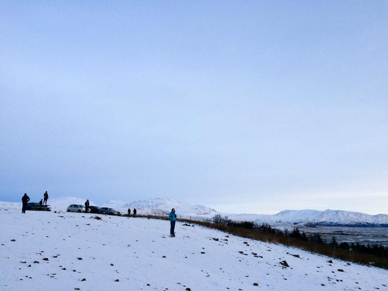 Первый рассвет в Исландии
